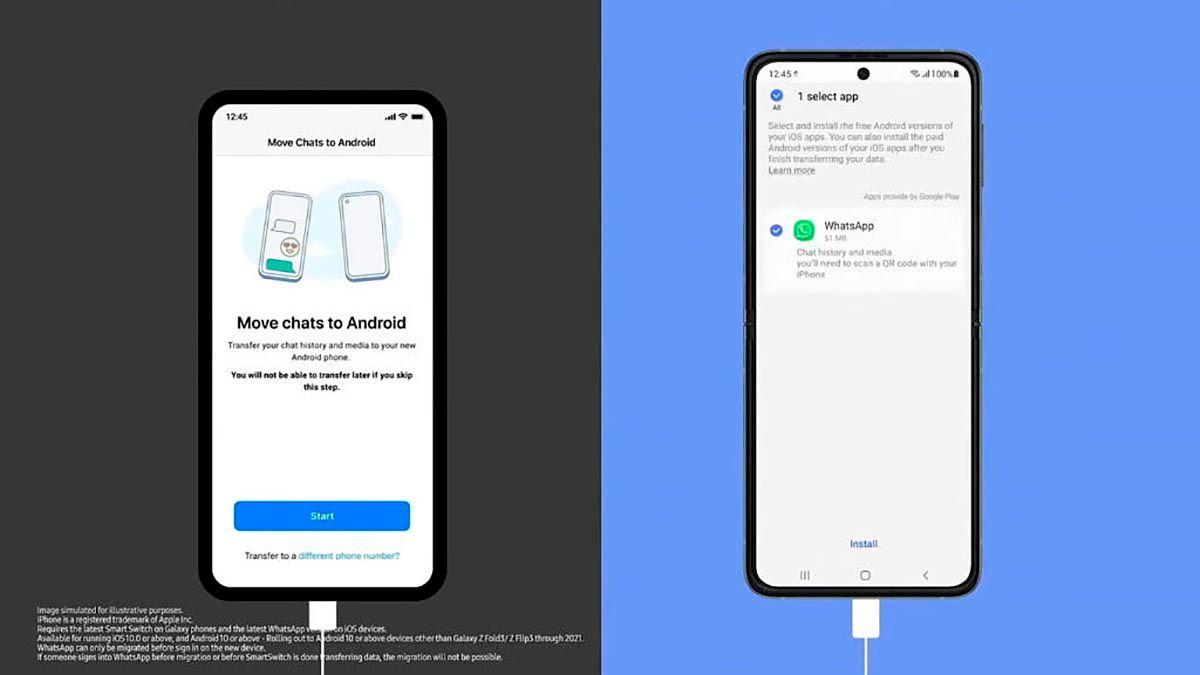 Pasar chats de WhatsApp de iOS a Android