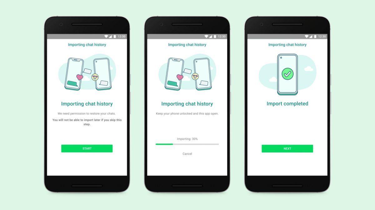 Pasar chats de iOS a Android WhatsApp
