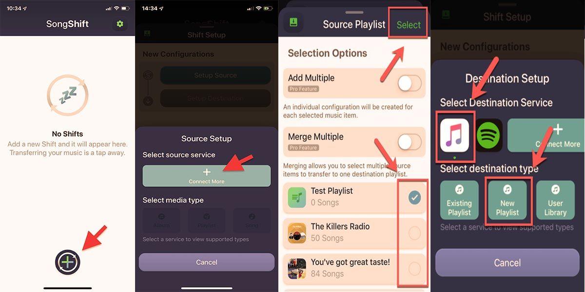 Pasar música Apple Music a Spotify