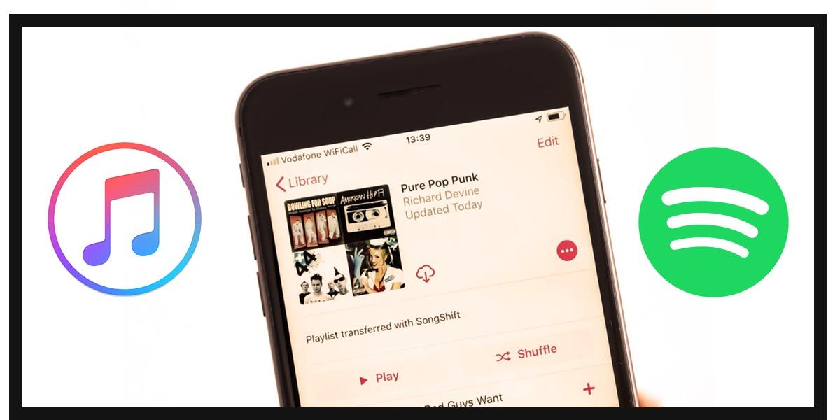 Pasar música de Apple Music a Spotify