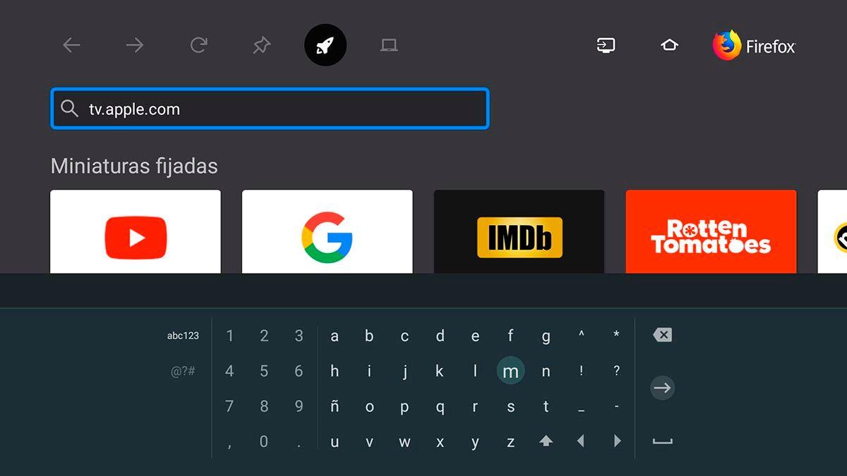 Paso 1 Abrir Apple TV en Firefox