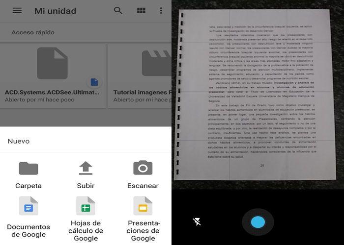 Paso 2 escaneo en Google Drive