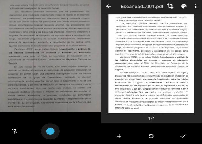 Paso 3 escanear con Google Drive