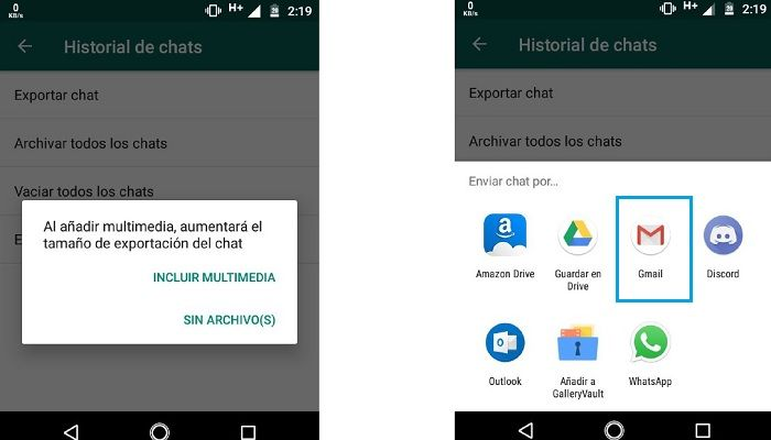 Paso A enviar chat de WhatsApp a Word
