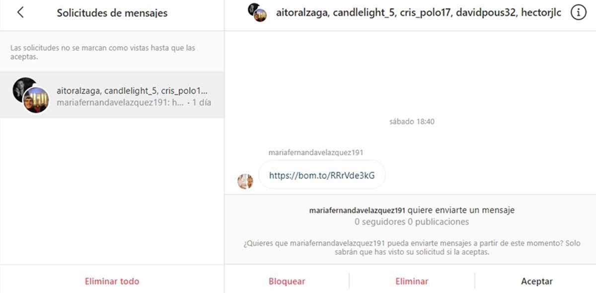 Pasos para borrar solicitudes de mensajes desde Instagram Web