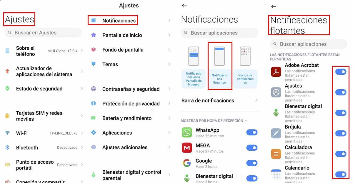 Pasos para detener notificaciones Pop up en Android