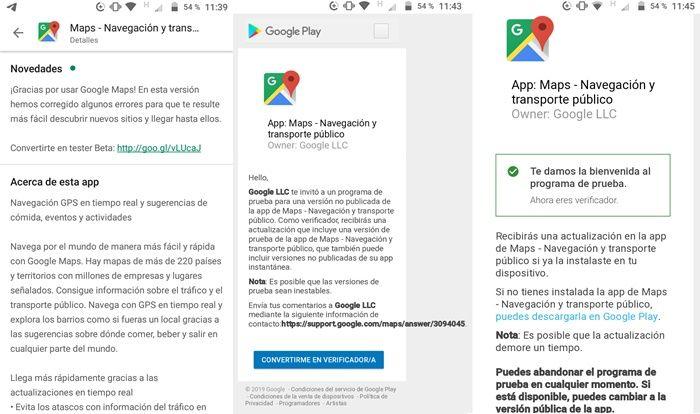 Pasos para ser beta tester de Google Maps