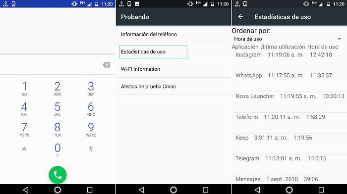 Pasos ver historial aplicaciones Android