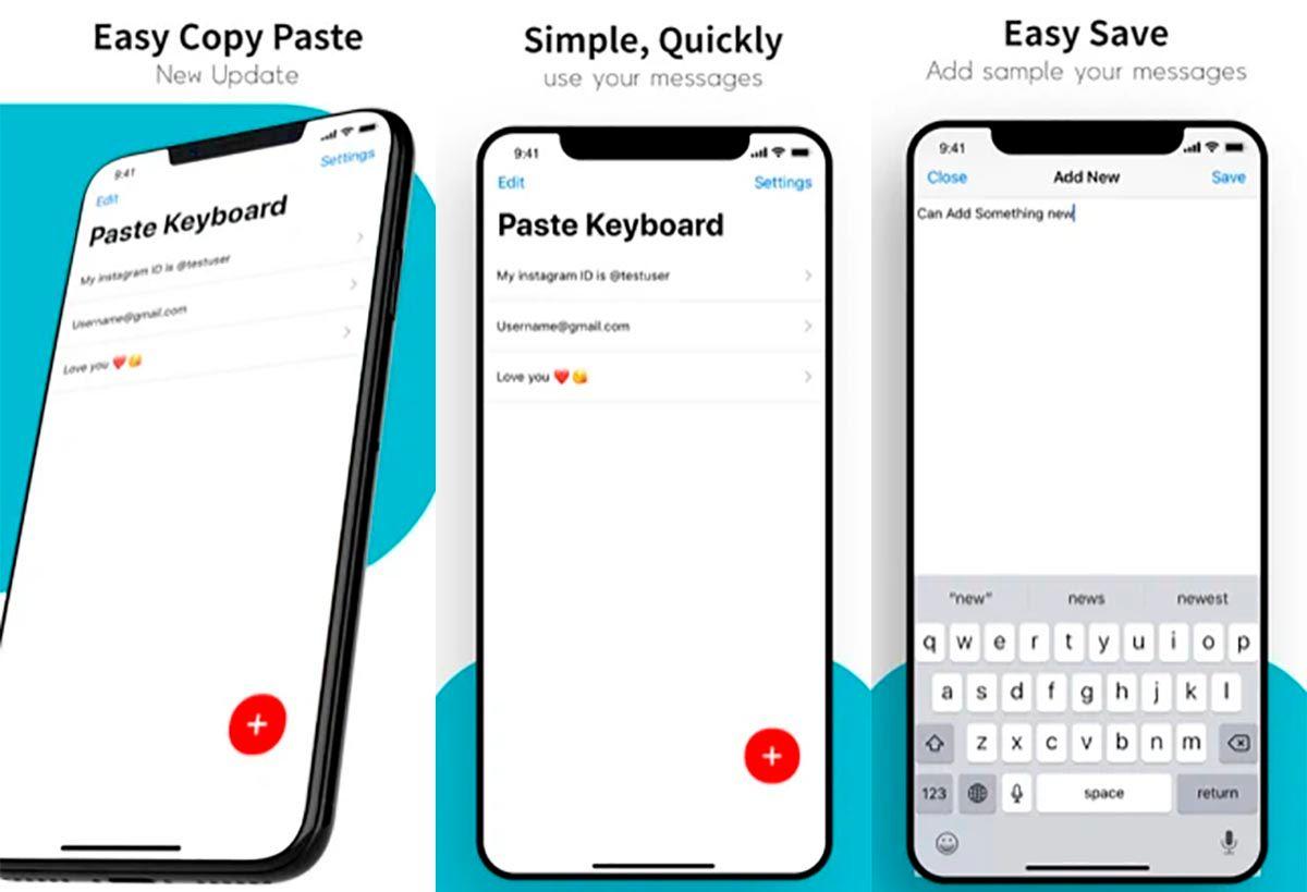 Paste Keyboard para iPhone