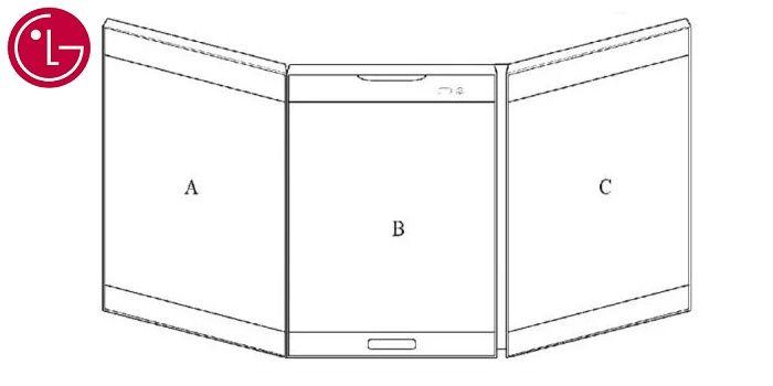 Patente smartphone plegable de LG pantallas