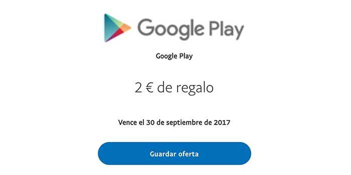 PayPal 2 euros gratis Google Play