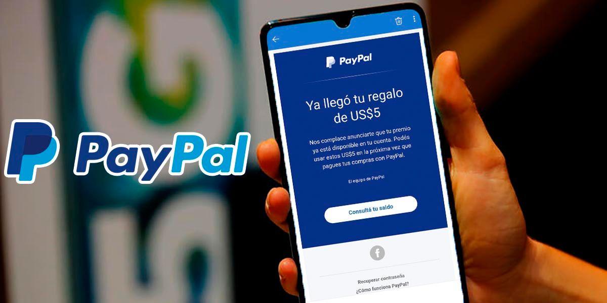 PayPal esta regalando 5 dolares