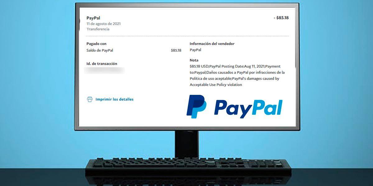 PayPal quita dinero por infracciones en la Politica de uso