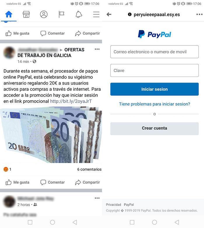 Paypal no regala dinero es una estafa