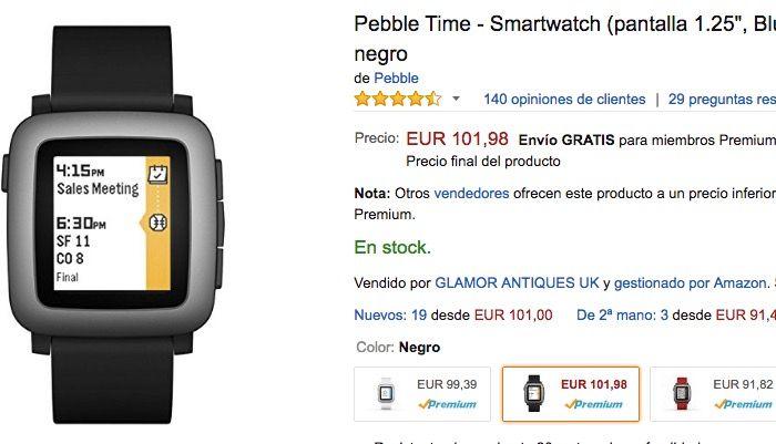 pebble time oferta
