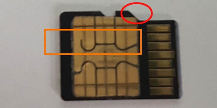 Pegar SIM en microSD