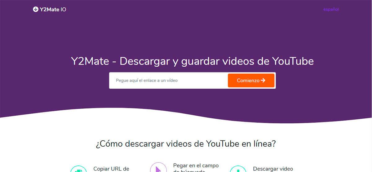 Pegar URL del video de YouTube