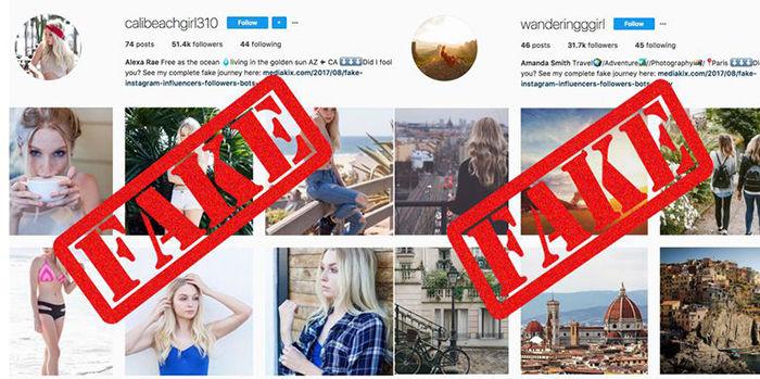 Perfil de instagram falso