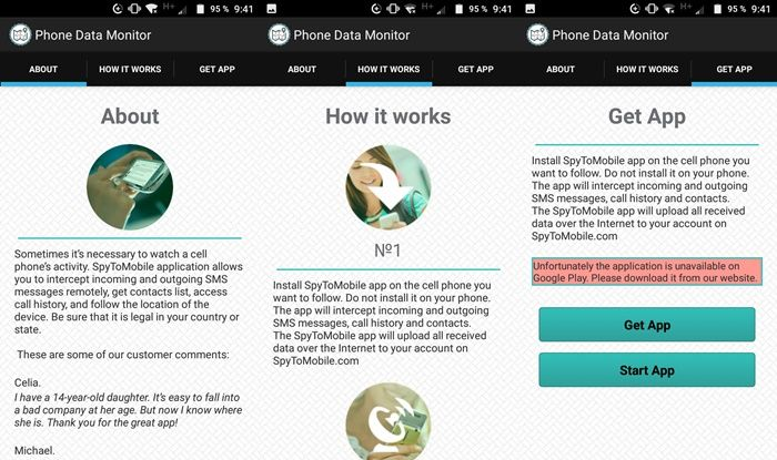 Phone Monitor app