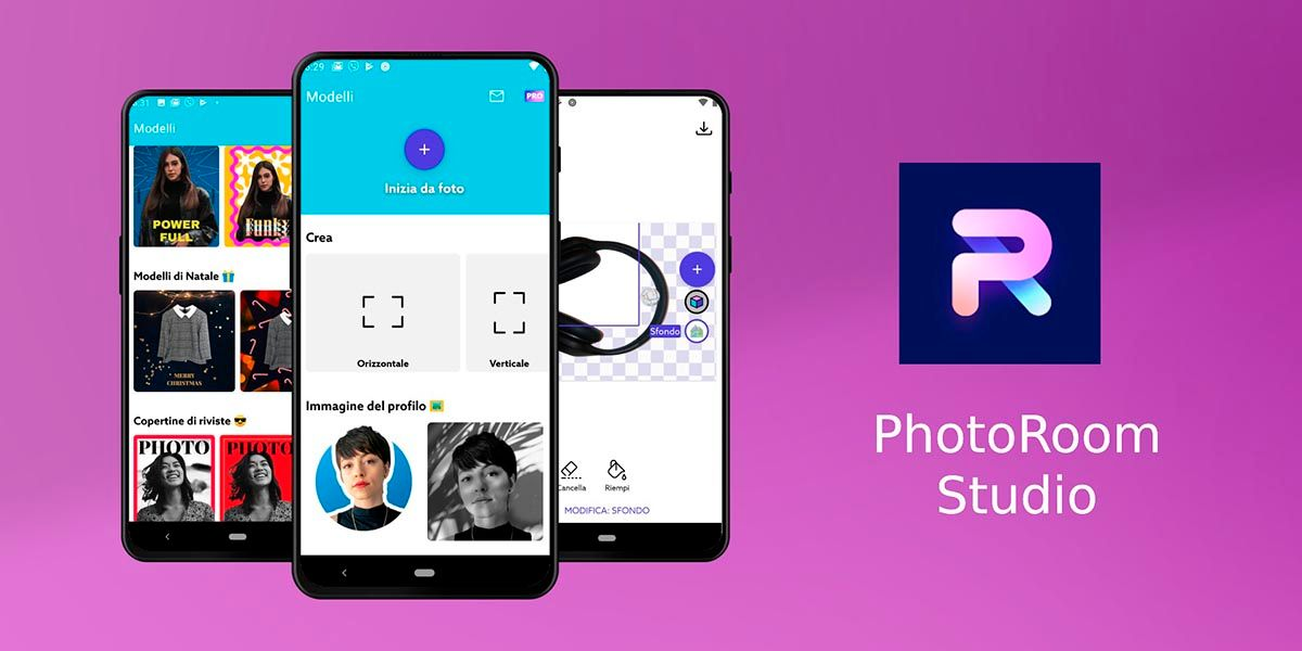 PhotoRoom app para quitar los fondos de las fotos