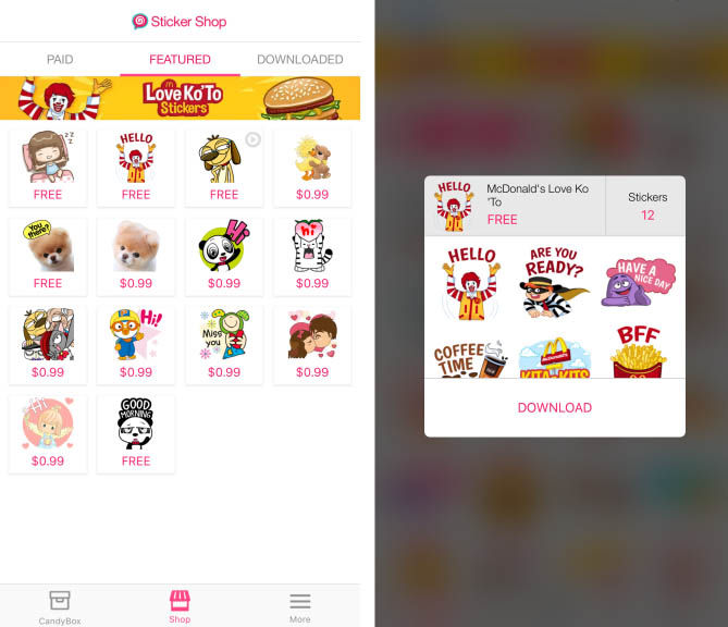 PicoCandy Stickers Facebook Messenger