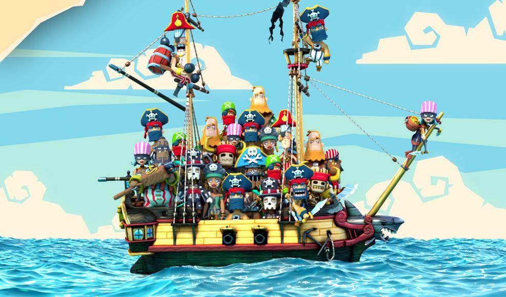 Piratas atacando en Plunder Pirates