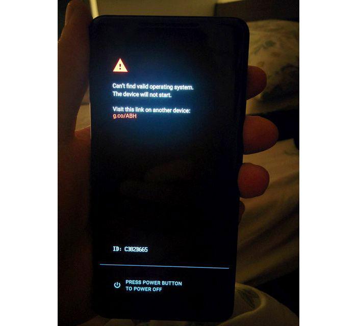 Pixel 2 XL error sin sistema operativo