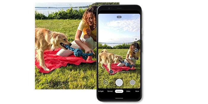 Pixel 4 interfaz camara