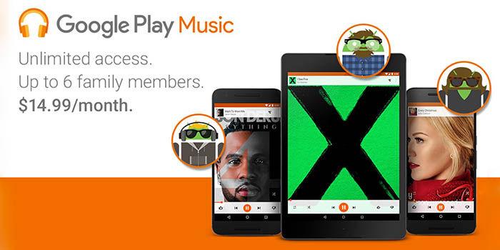 Plan familiar Google Play Music
