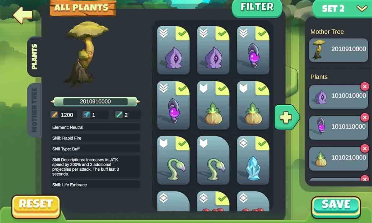 Plantas modo PvP Plant vs Undead