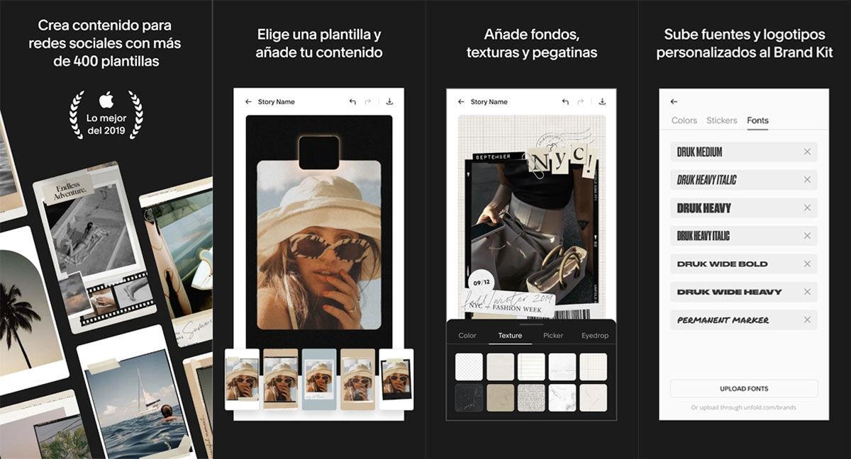 Plantillas descargables para Instagram stories con mil opciones de personalización