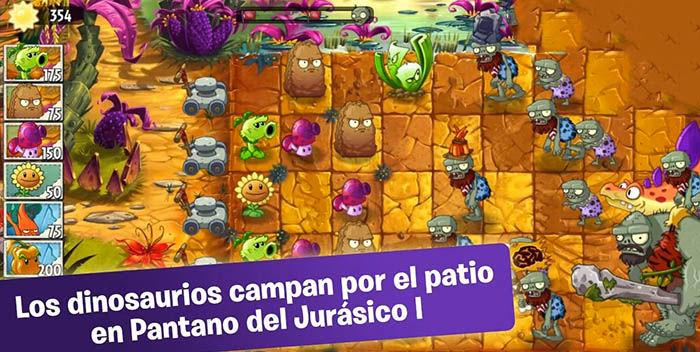 Plants vs Zombies 2 Pantano del Jurásico Parte 1