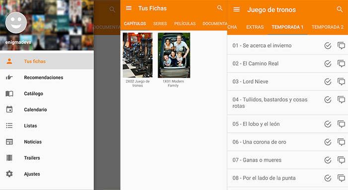 PlayMX capturas de la aplicacion