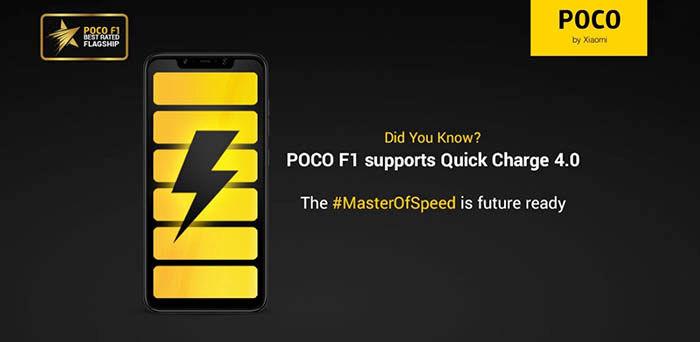 Poco F1 Quick Charge 4