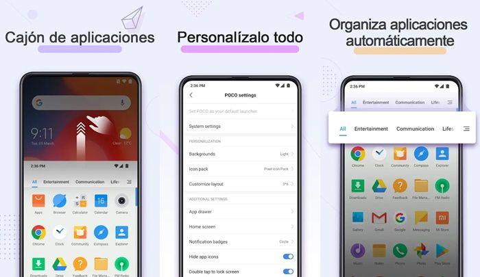 Poco Launcher app de Xiaomi