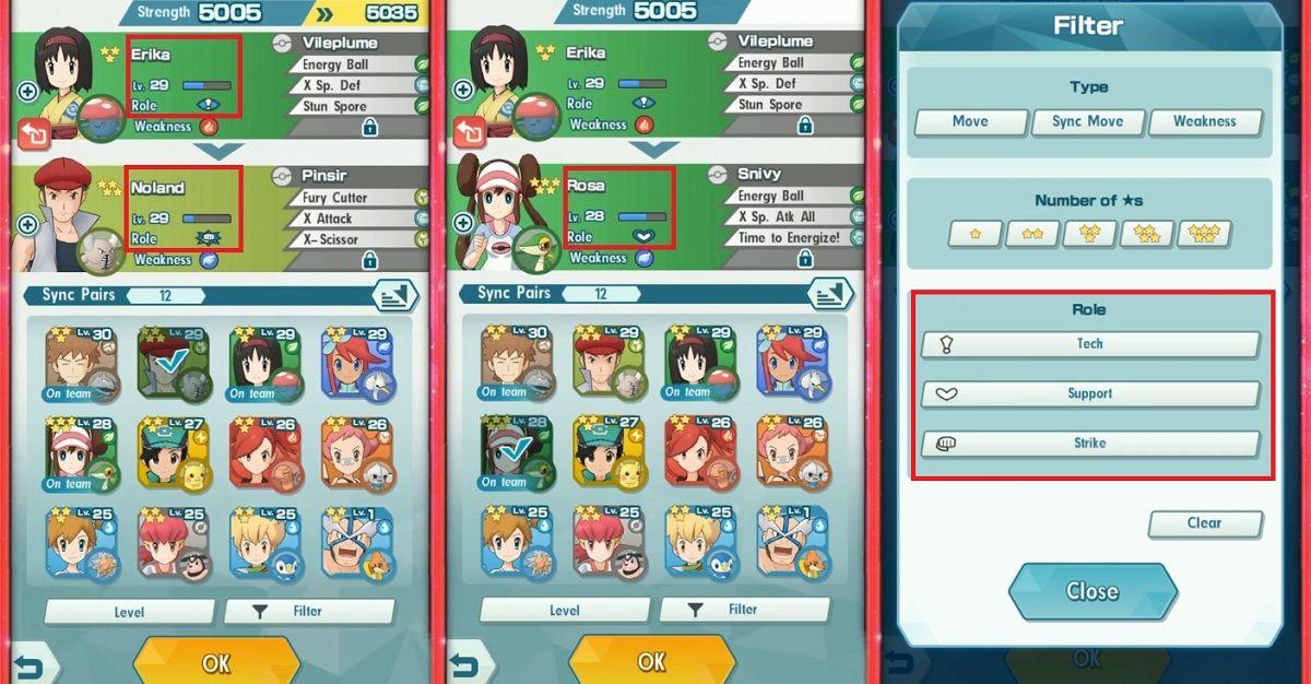Pokémon Masters Roles
