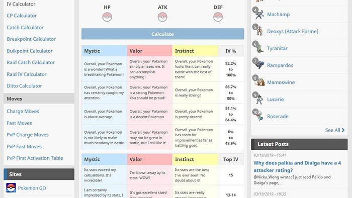 Pokemon Go Calculadora 4