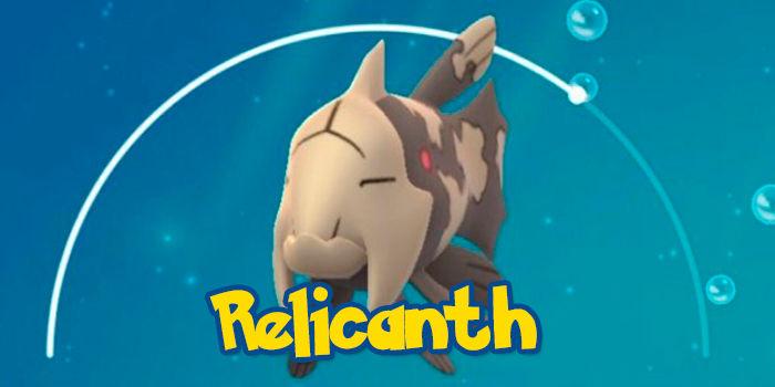 Pokemon Go capturar Relicanth