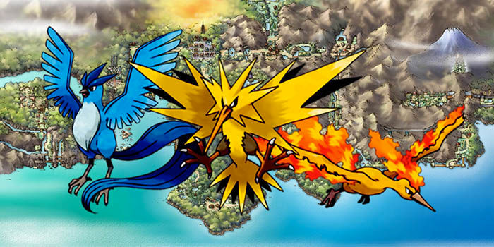 Pokemon Legandarios Moltres Zapdos y Articuno