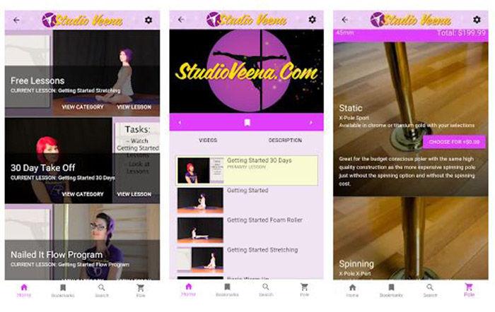 Pole Dance Veena app