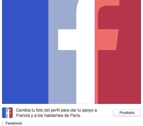 Poner bandera de Francia de foto de perfil de Facebook