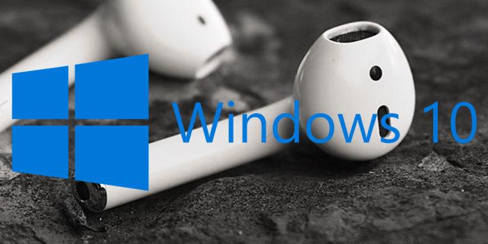 Cómo conectar AirPods a Windows 10