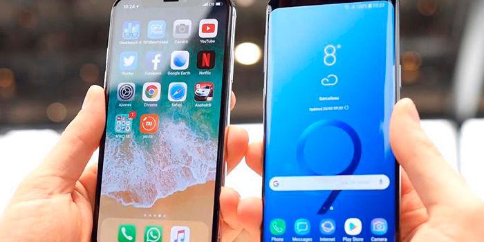Precio Galaxy S9, S9+ vs iPhone X