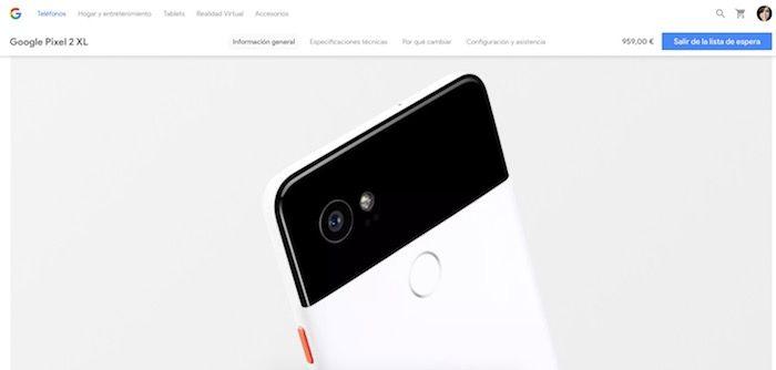 Precio de los Google Pixel 2 y Pixel 2 XL en España
