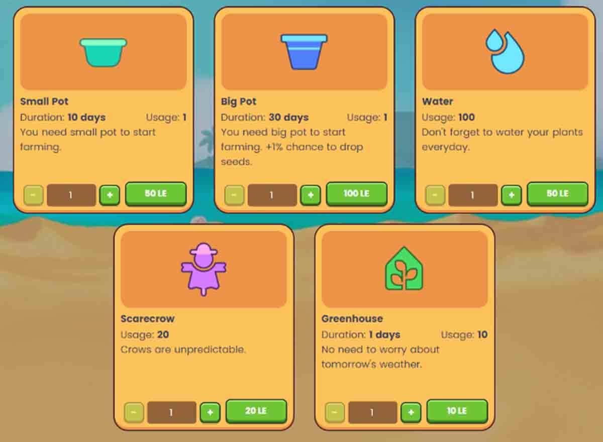Precios objetos Plant vs Undead