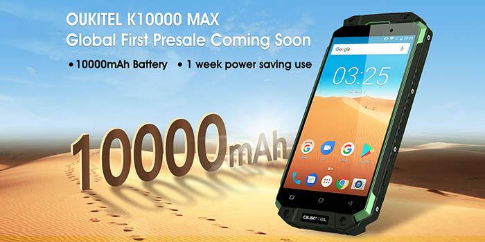 Presale del OUKITEL K10000 MAX