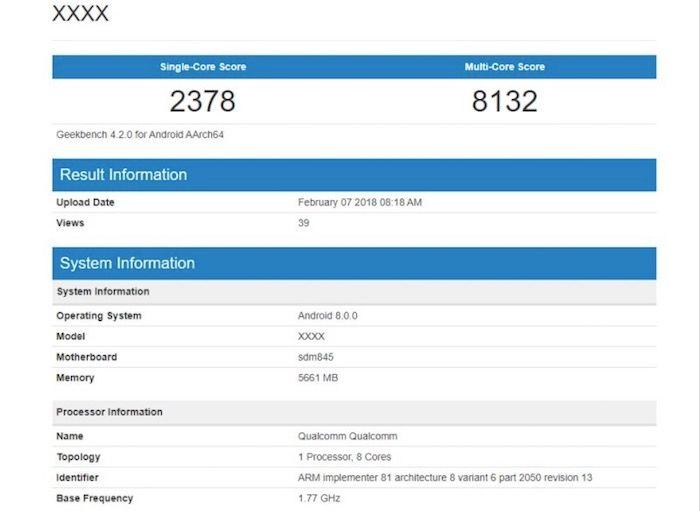 Primer benchmark del Galaxy S9