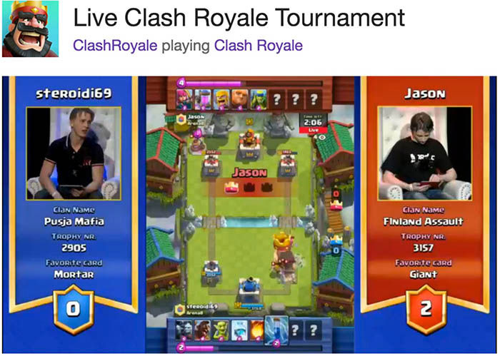 Primer torneo Clash Royale
