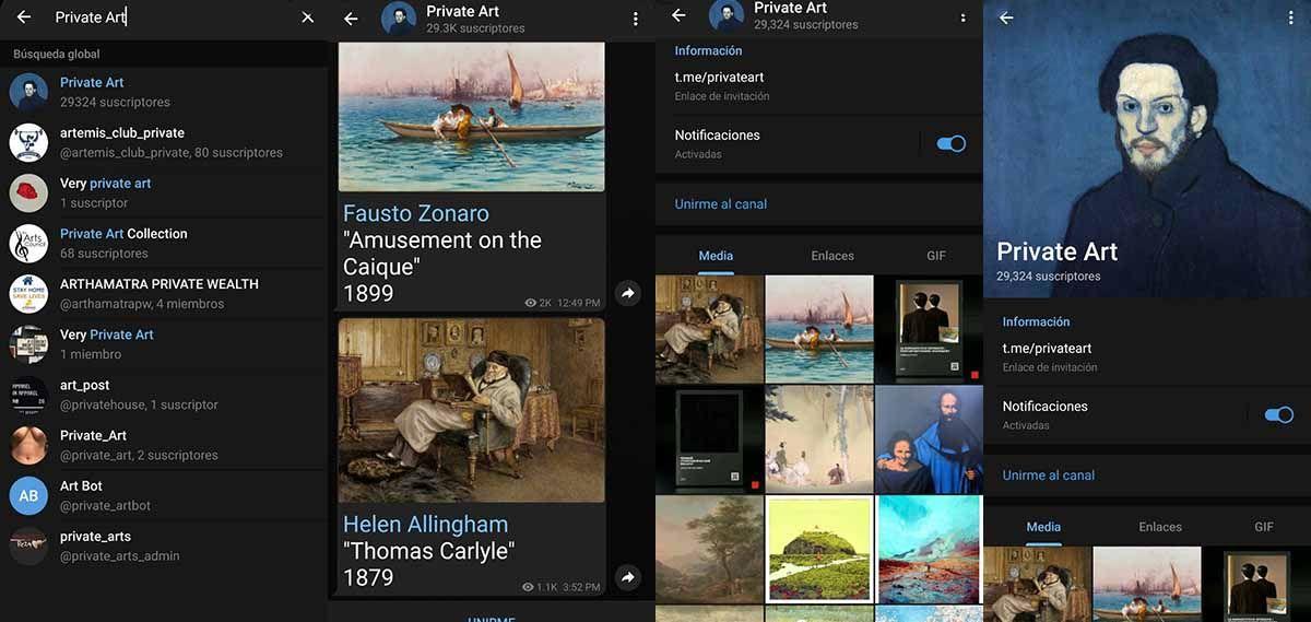 Private Art disfruta increíbles cuadros desde tu Telegram
