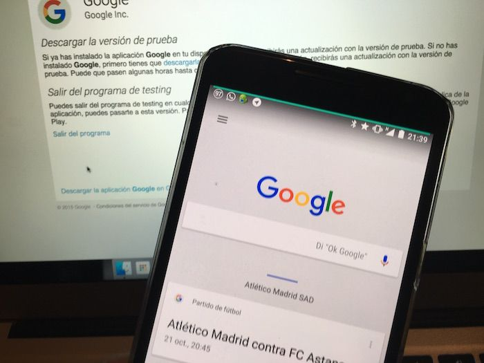 Probar la beta de Google Search